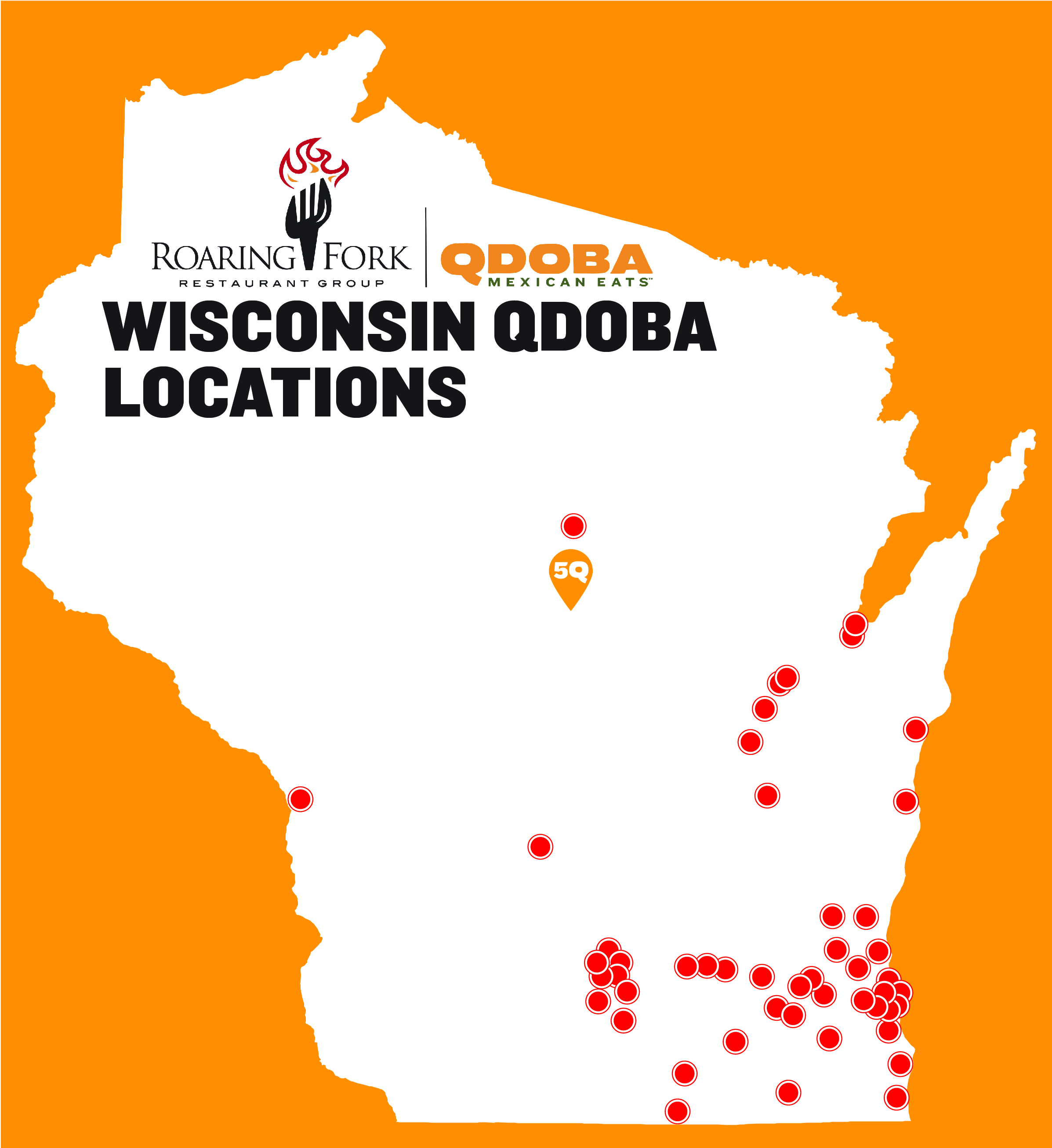 Qdoba Mexican Eats Wisconsin Locations Map