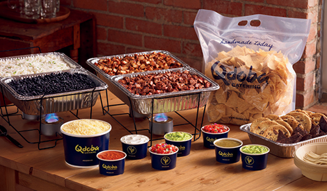 Hot Mexican Food Catering Buffet Bar